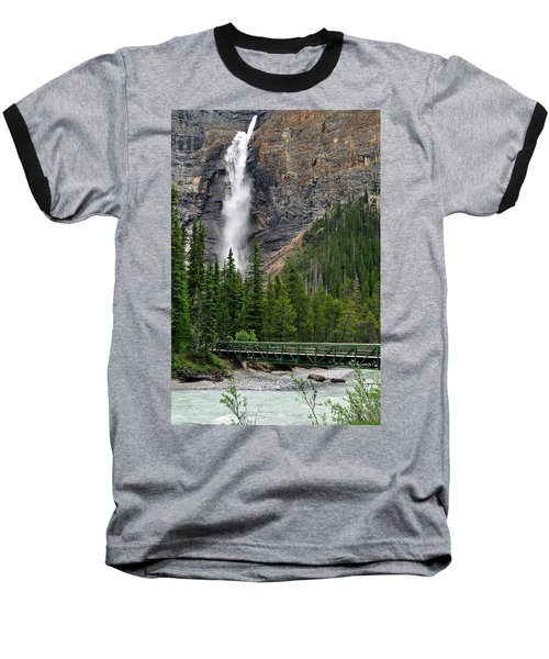 Takakkaw Falls Baseball T-Shirt by Lisa Phillips