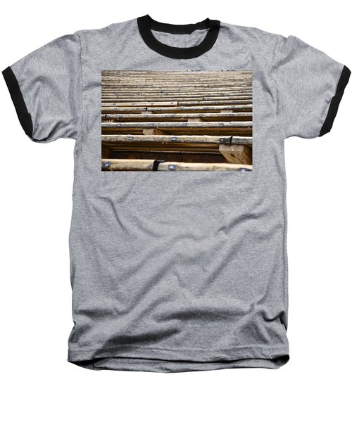 Take A Seat Baseball T-Shirt by Charlie Brock