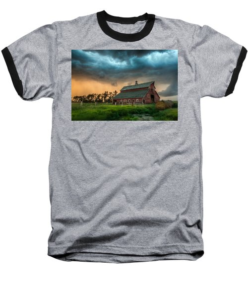 Baseball T-Shirt featuring the photograph Take Shelter by Aaron J Groen