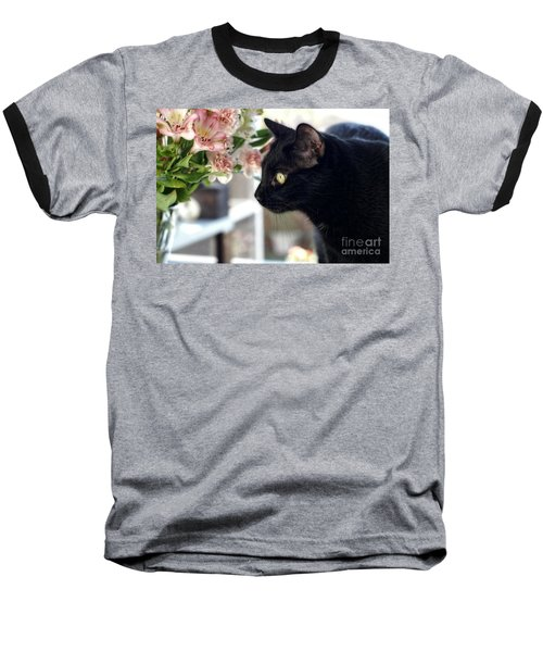 Baseball T-Shirt featuring the photograph Take Time To Smell The Flowers by Peggy Hughes