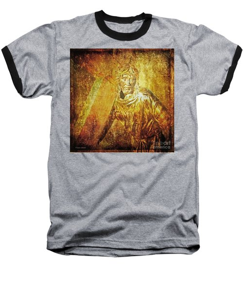 Takes Up The Cross  Via Dolorosa 2 Baseball T-Shirt