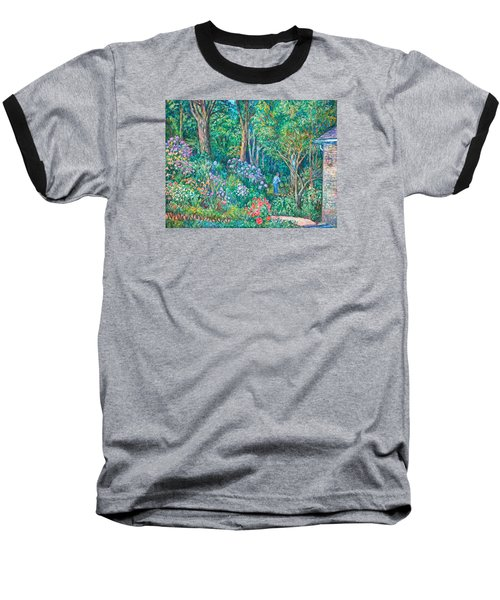 Baseball T-Shirt featuring the painting Taking A Break by Kendall Kessler