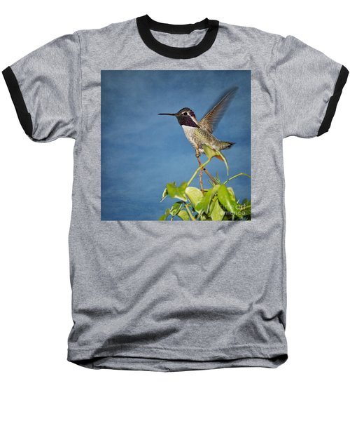 Baseball T-Shirt featuring the photograph Taking Flight by Peggy Hughes