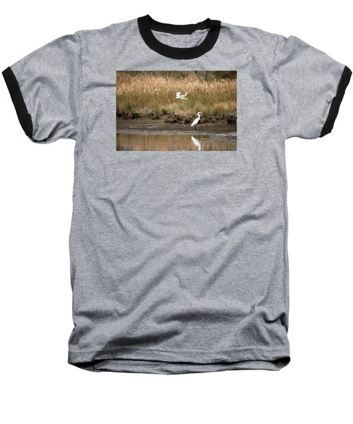 Baseball T-Shirt featuring the photograph Taking Flight by Rebecca Davis