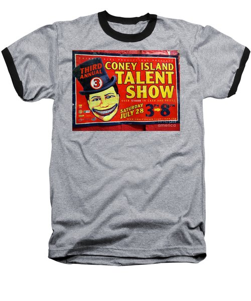Talent Show Baseball T-Shirt by Ed Weidman