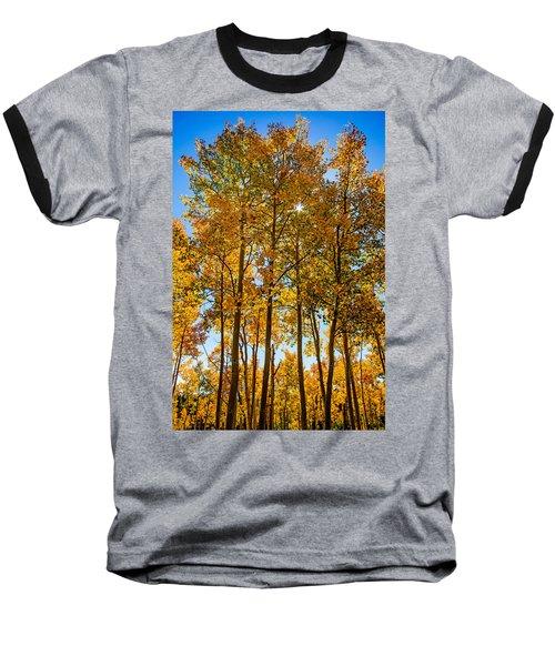 Tall Aspen With Sunstar Baseball T-Shirt