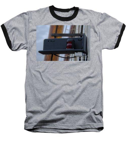 Tall Ship Bow Light Baseball T-Shirt by Dale Powell