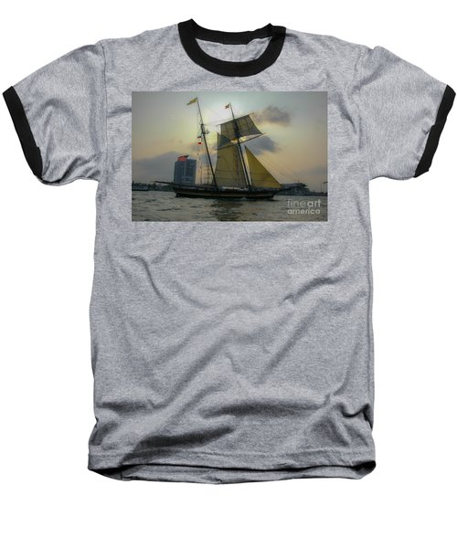 Baseball T-Shirt featuring the photograph Tall Ship In Charleston by Dale Powell