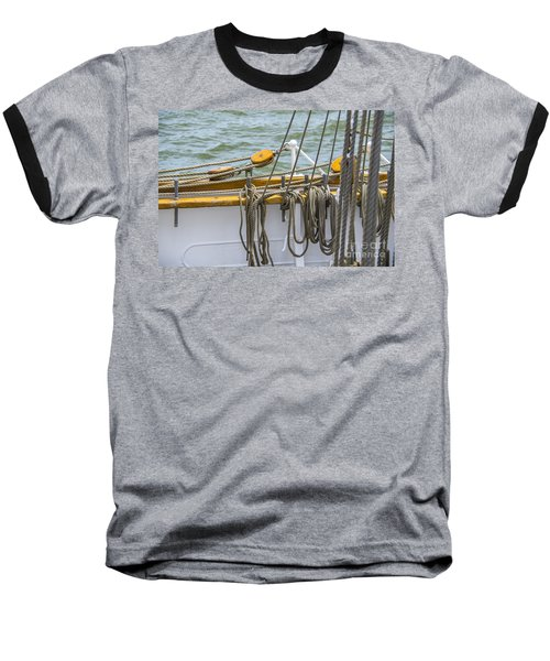 Baseball T-Shirt featuring the photograph Tall Ship Rigging by Dale Powell