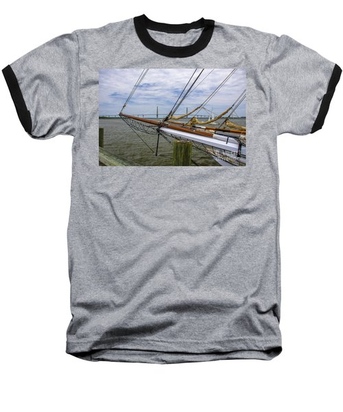 Baseball T-Shirt featuring the photograph Tall Ships In Charleston by Dale Powell