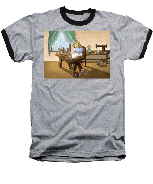 Baseball T-Shirt featuring the painting Tammy The Little Doll Girl  by Reynold Jay