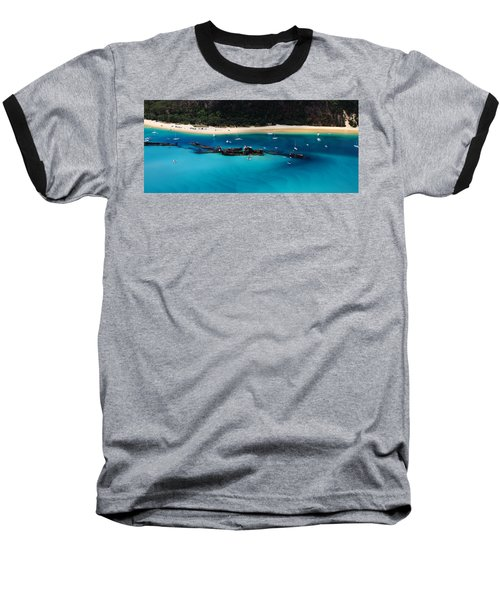 Tangalooma Wrecks Baseball T-Shirt