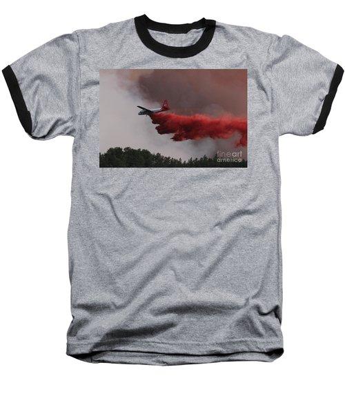 Baseball T-Shirt featuring the photograph Tanker 07 Drops On The Myrtle Fire by Bill Gabbert