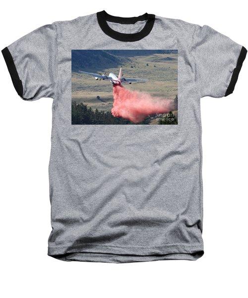 Tanker 45 Dropping On Whoopup Fire Baseball T-Shirt by Bill Gabbert