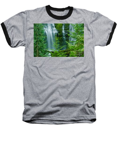 Pacific Northwest Waterfall Baseball T-Shirt