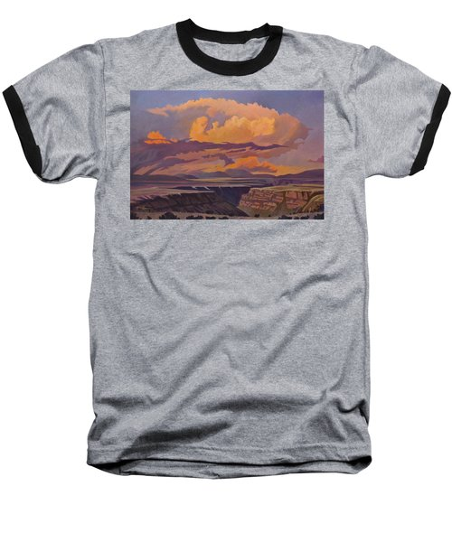 Baseball T-Shirt featuring the painting Taos Gorge - Pastel Sky by Art James West