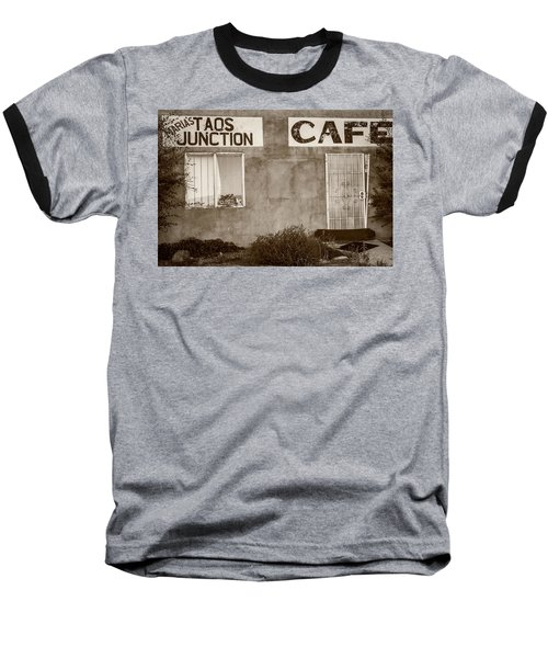 Taos Junction Cafe Baseball T-Shirt by Steven Bateson