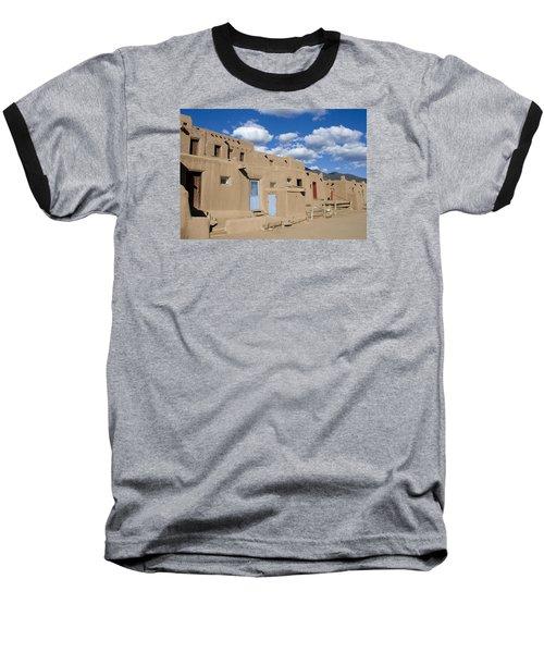 Taos Pueblo Baseball T-Shirt by Elvira Butler