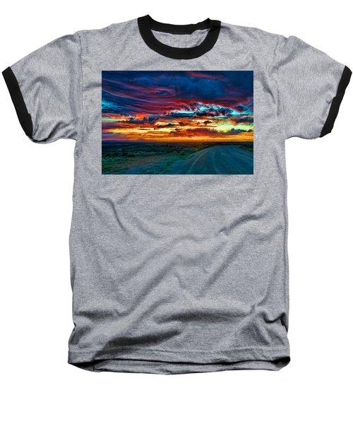Taos Sunset Iv Baseball T-Shirt
