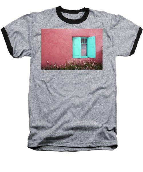 Baseball T-Shirt featuring the photograph Taos Window I by Lanita Williams