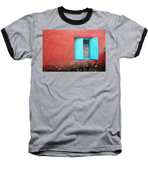 Baseball T-Shirt featuring the photograph Taos Window Iv by Lanita Williams