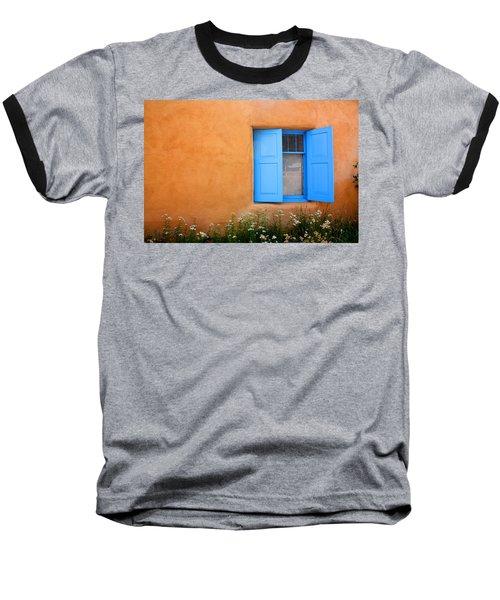 Taos Window V Baseball T-Shirt by Lanita Williams