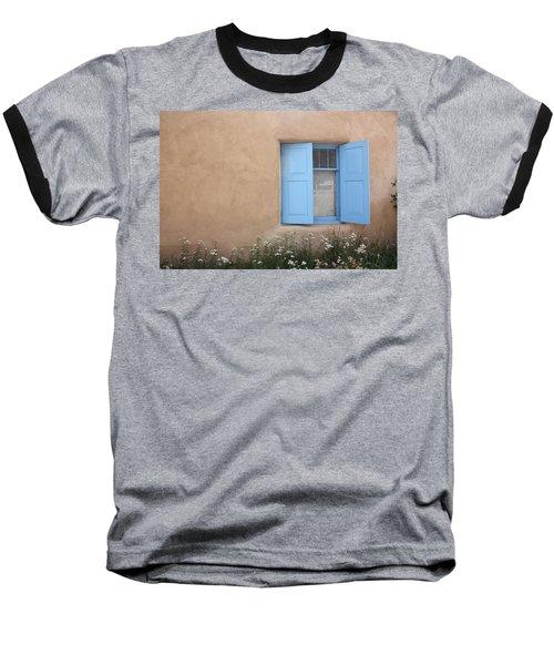 Baseball T-Shirt featuring the photograph Taos Window Vi by Lanita Williams