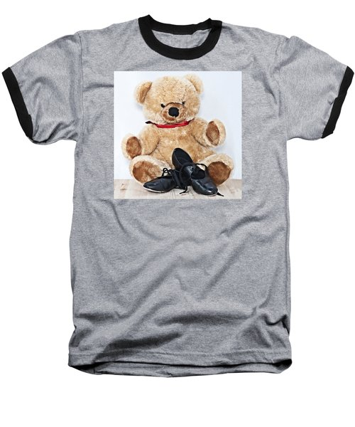 Tap Dance Shoes And Teddy Bear Dance Academy Mascot Baseball T-Shirt