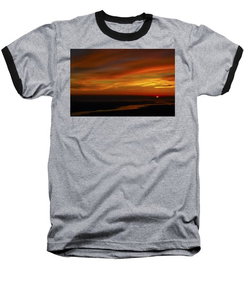 Rappahannock Sunrise II Baseball T-Shirt by Greg Reed