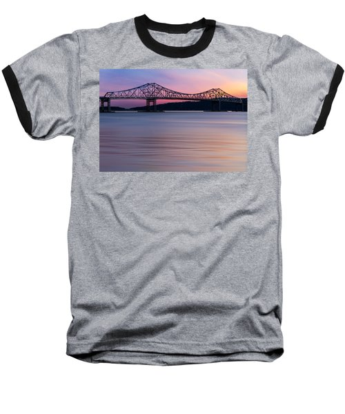 Tappan Zee Bridge Sunset Baseball T-Shirt