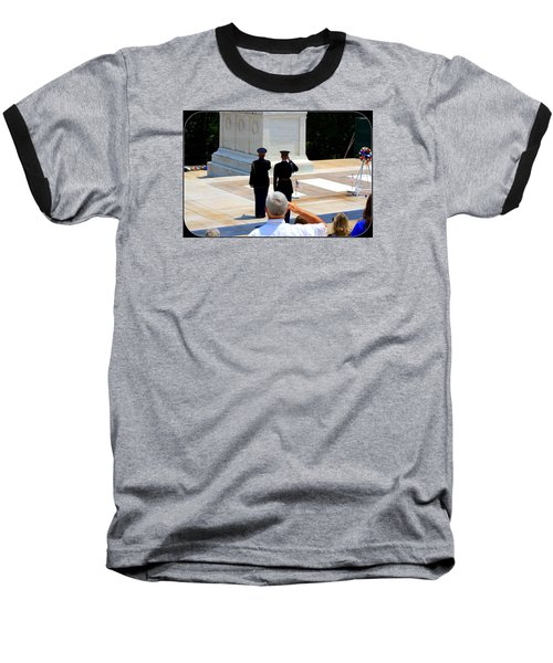 Baseball T-Shirt featuring the photograph Taps At The Tomb Of The Unknown by Patti Whitten