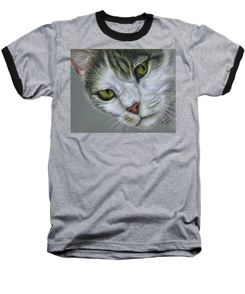 Tara Cat Art Baseball T-Shirt