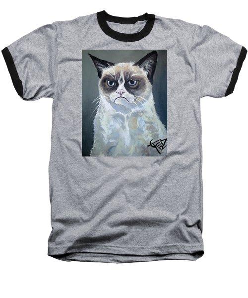 Tard - Grumpy Cat Baseball T-Shirt by Tom Carlton
