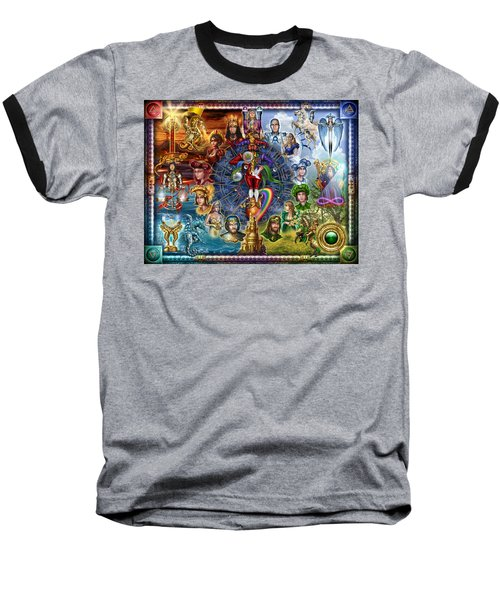 Tarot Of Dreams Baseball T-Shirt by Ciro Marchetti