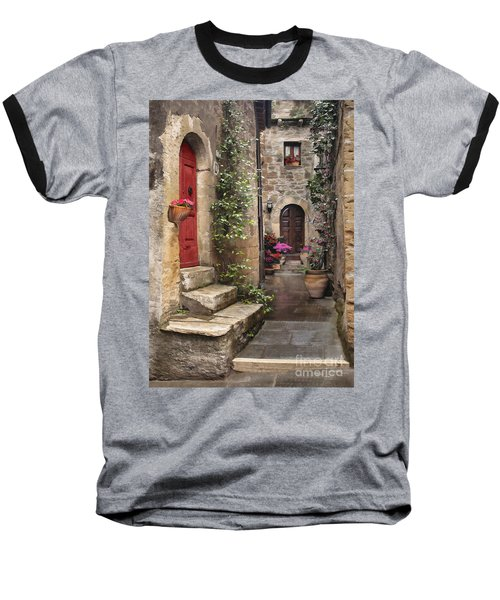 Tarquinian Red Door Baseball T-Shirt