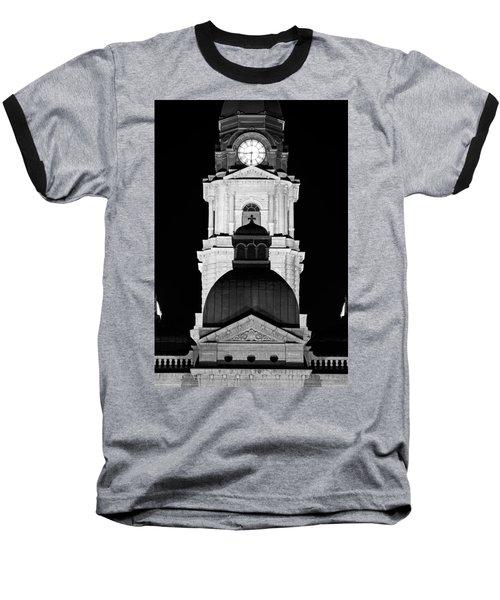 Tarrant County Courthouse Bw V1 020815 Baseball T-Shirt
