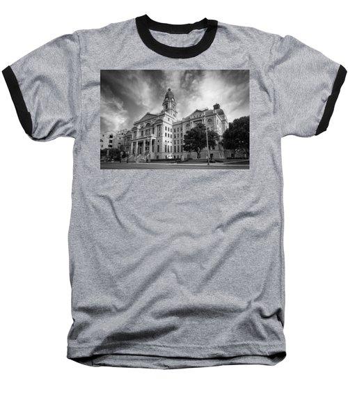 Tarrant County Courthouse Bw Baseball T-Shirt