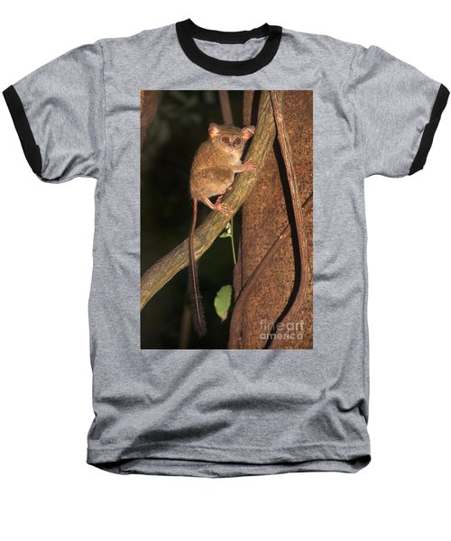 Baseball T-Shirt featuring the photograph Tarsius Tarsier  by Sergey Lukashin