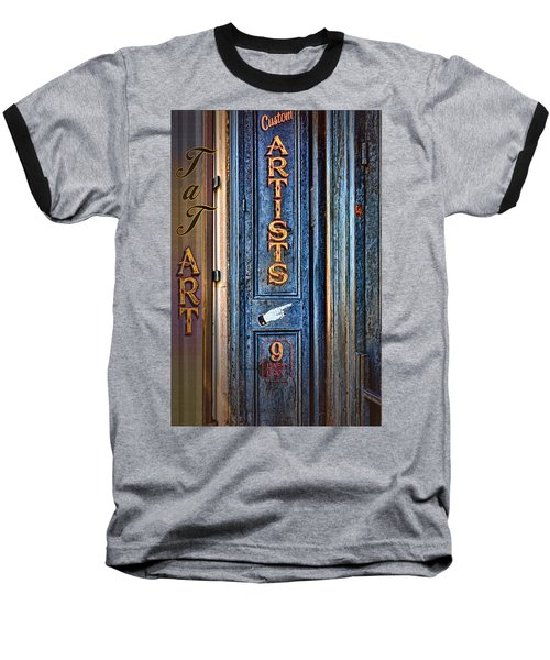 Baseball T-Shirt featuring the photograph Tat Art by Larry Bishop