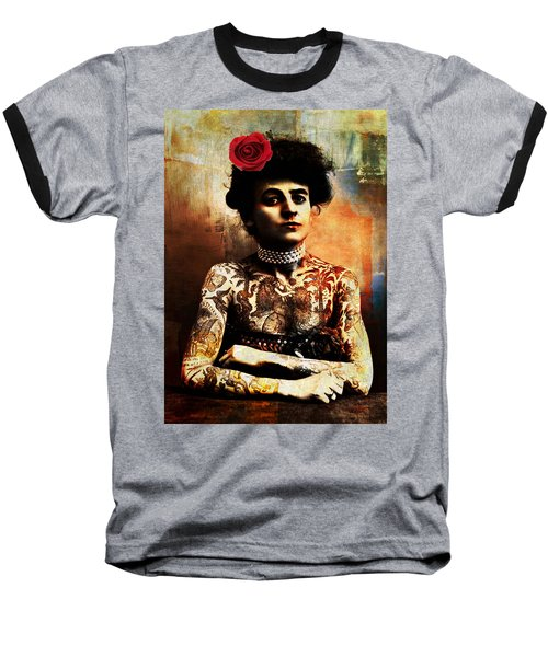 Tattoo Lady Baseball T-Shirt