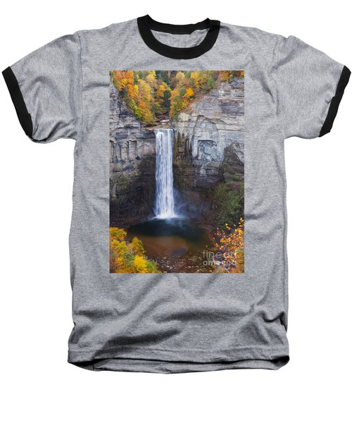 Taughannock Falls In Autumn Baseball T-Shirt