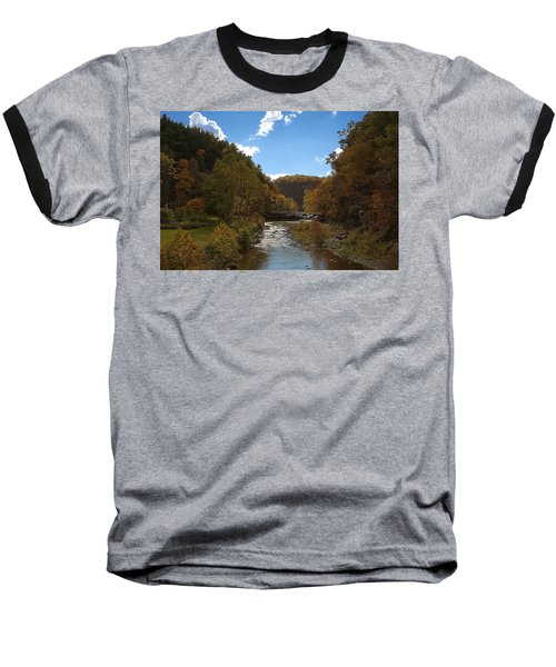 Baseball T-Shirt featuring the photograph Taughannock Lower Falls Ithaca New York by Paul Ge
