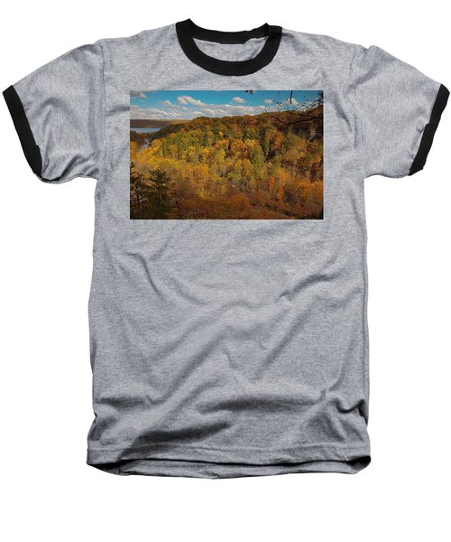 Baseball T-Shirt featuring the photograph Taughannock River Canyon In Colorful Fall Ithaca New York II by Paul Ge