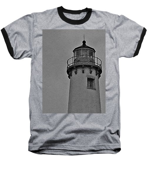 Baseball T-Shirt featuring the photograph Tawas Point In The Rain by Daniel Thompson