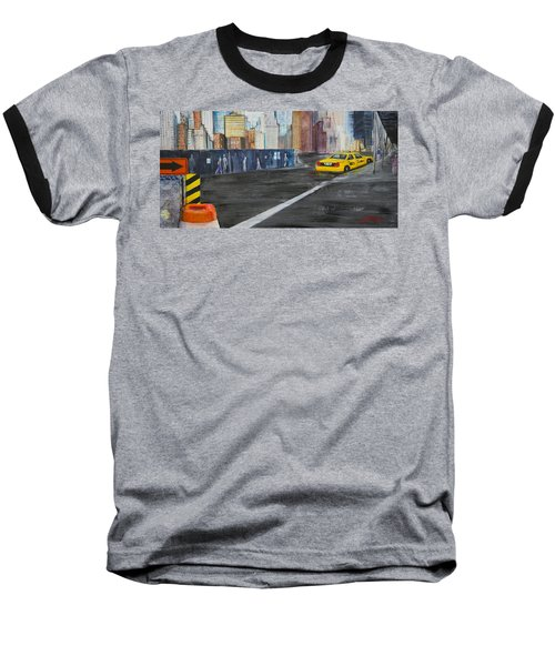 Taxi 9 Nyc Under Construction Baseball T-Shirt