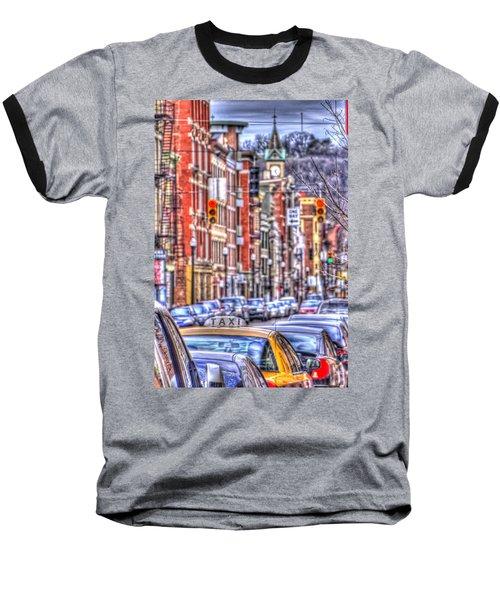 Taxi Baseball T-Shirt by Daniel Sheldon