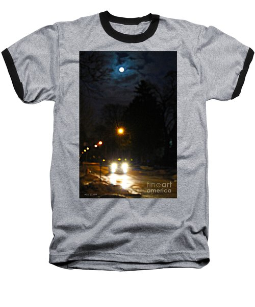 Baseball T-Shirt featuring the photograph Taxi In Full Moon by Nina Silver