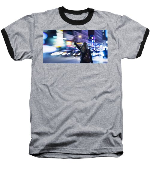 Taxi's Hunting In Manhattan Baseball T-Shirt