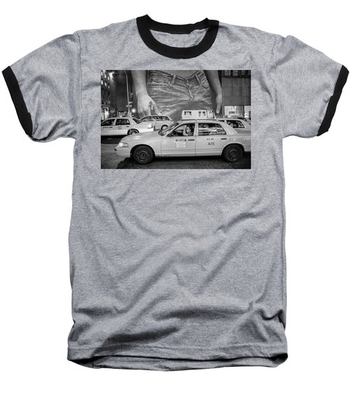 Taxis On Fifth Avenue Baseball T-Shirt