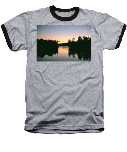 Tea Lake Sunset Baseball T-Shirt